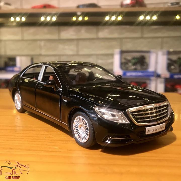 Mô Hình Xe ô Tô Mercedes Benz S600 Tỉ Lệ 132 Màu đen Chỉ
