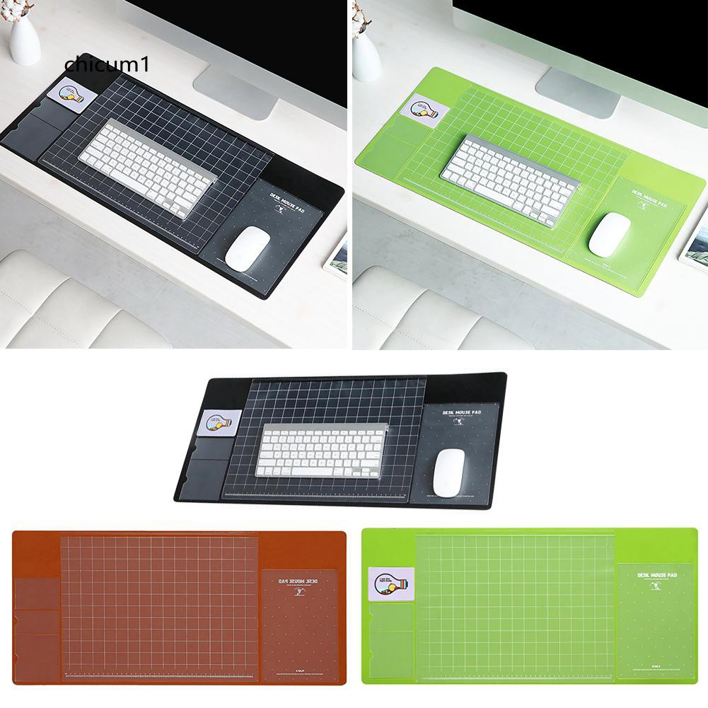 CHI Rectangle PVC Anti-Slip Mousepad Office Home Study Computer Writing Desk Mat