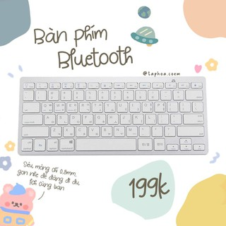 Bàn phím Bluetooth Stationery White