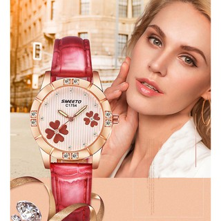 [MẪU HOT] Đồng hồ nữ SMEETO SM22 dây da cao cấp đẳng cấp phái nữ thumbnail