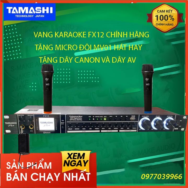 [kèm micro đôi] vang cơ karaoke tamashi fx12 chính hãng vang cơ karaoke tamashi fx12 chính hãng vang cơ karaoke tamashi