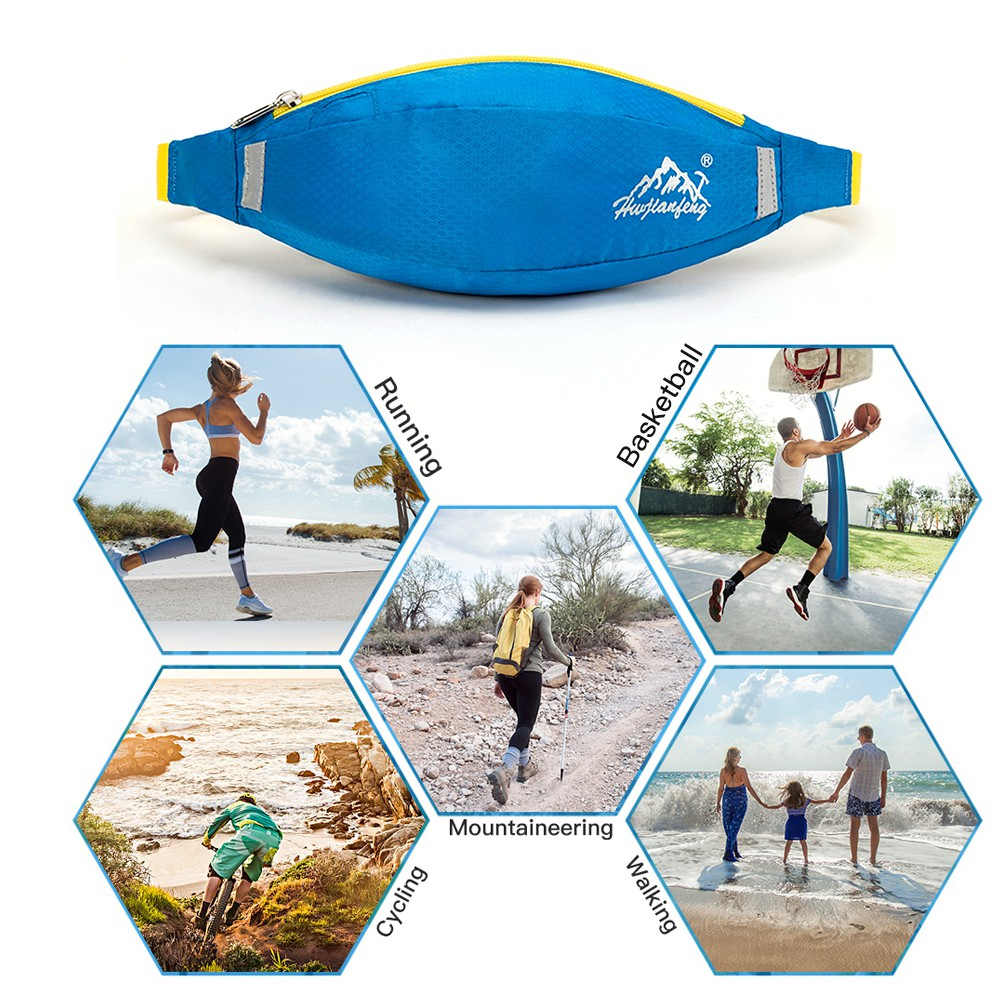 Outdoor Sporting Waist Bag Waterproof Running Waist Pouch Anti-slip Jogging Belt Cycling Cellphone Pack Mountaineering B