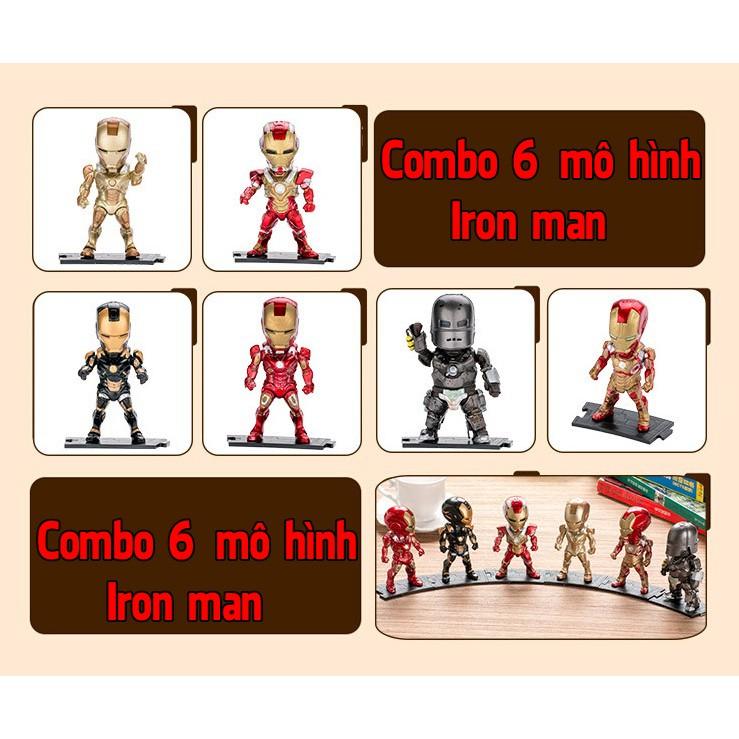 [Freeship] Combo 6 mô hình Ironman