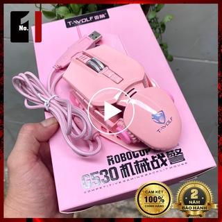 Chuột Gaming Máy Vi Tính T-Wolf G530 Màu Hồng Led RGB Chuột Dây Game Thủ Chuyên Game Laptop Pc thumbnail
