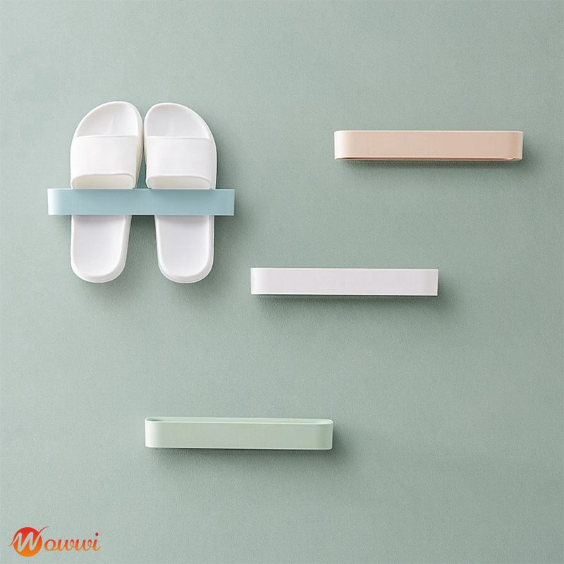 ❥ Wall seamless stickers shoes storage rack bathroom wall-mounted slippers shelf Gdth