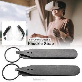 1pair Knuckle Strap Pu Leather For Oculus Quest 2