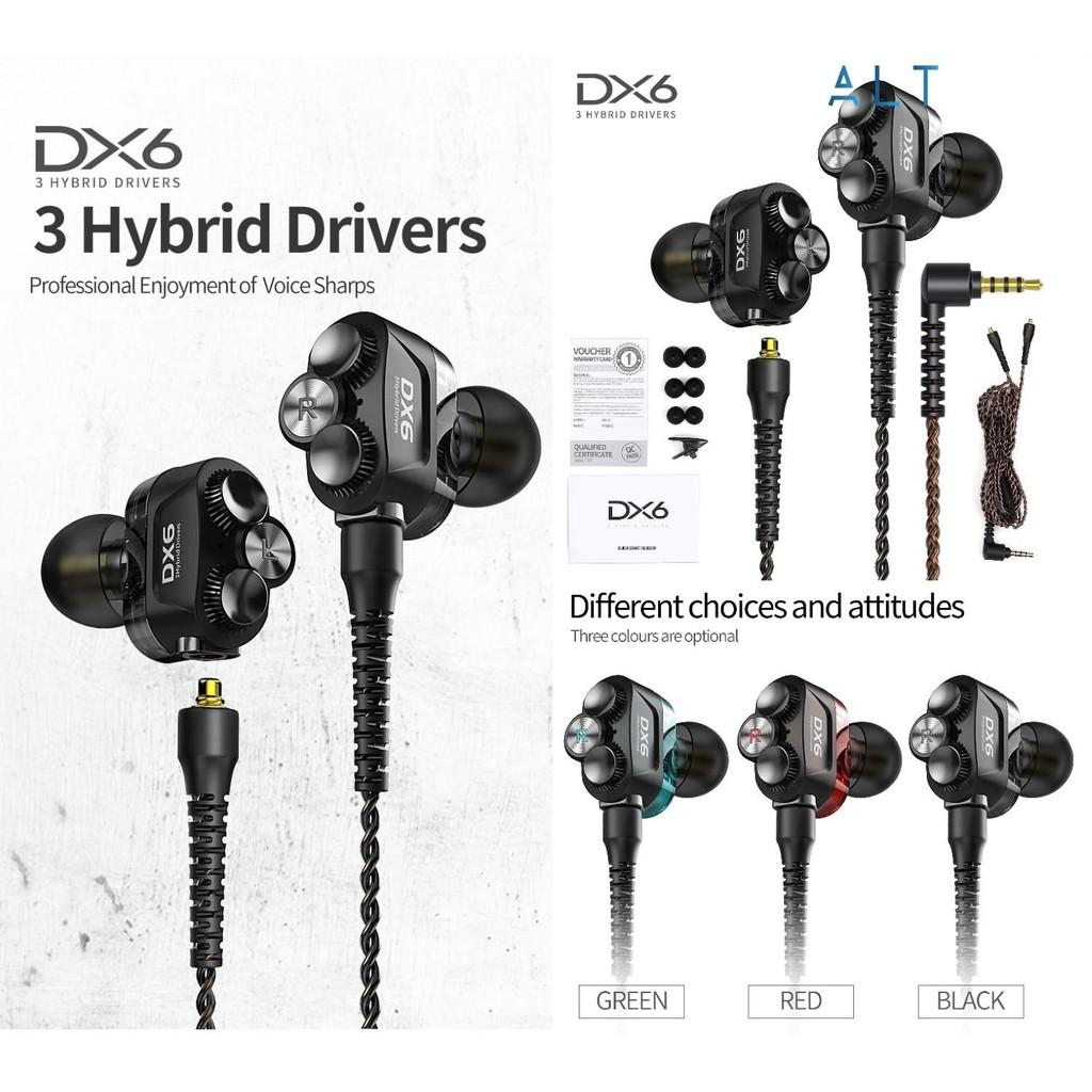 Tai Nghe Hybrid Plextone DX6 Âm Thanh Hi Res, 3 Hybrid Driver - BH 3 Tháng 1 Đổi 1