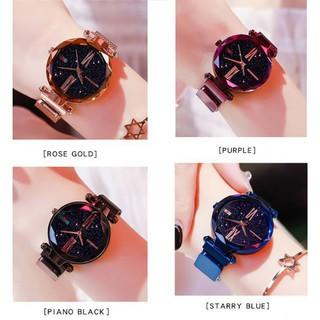 Đồng hồ kim mặt tròn dây inox thời trang cho nữ