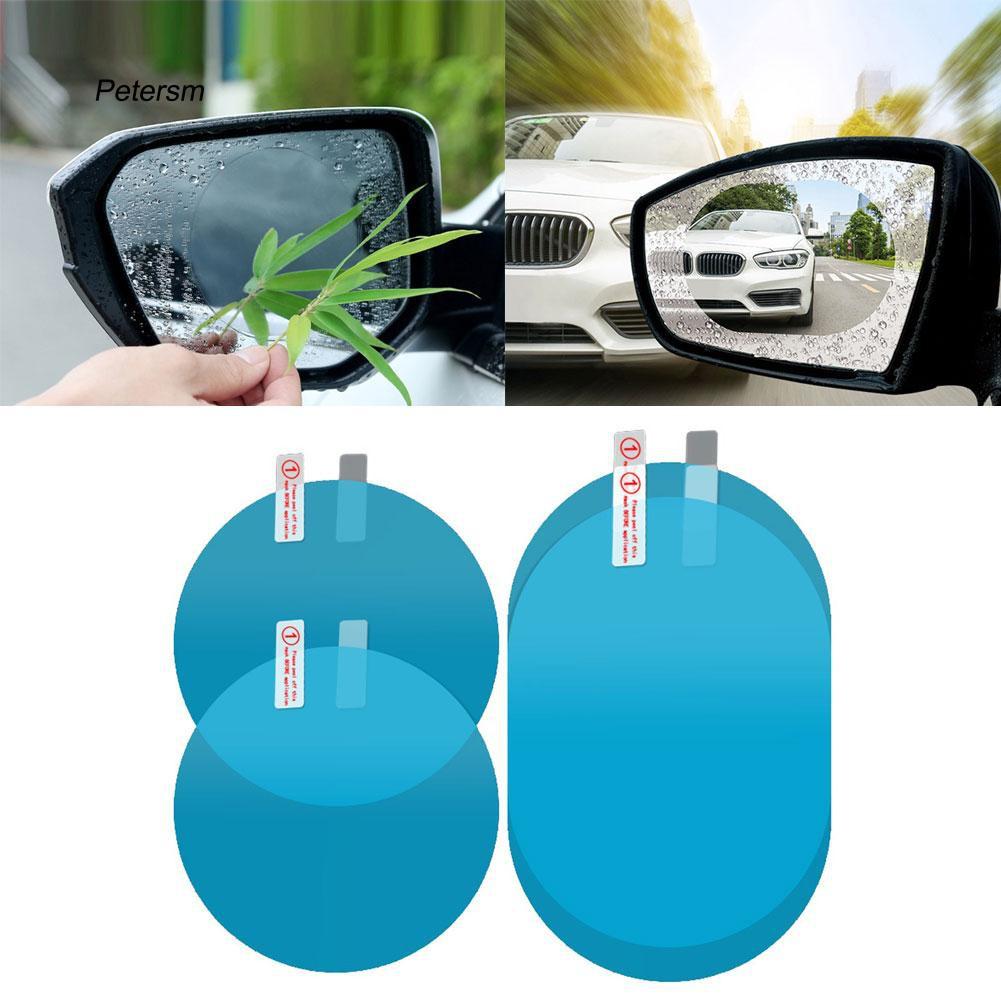 AW 2 phim dán chống sương/nước và chói cho gương chiếu hậu xe hơi bảng PET có 2 kiểu lựa chọn kèm phụ kiện