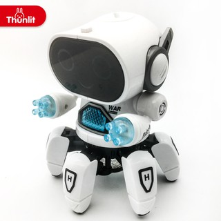 Thunlit New Product Dancing Electric Six-Claw Fish 6 Robot Light Music Children Boy Toy