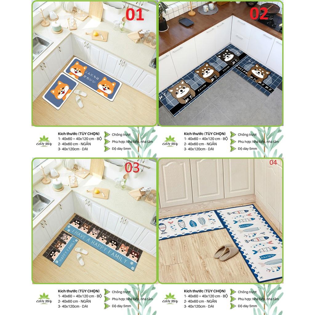 Thảm bếp 3D, thảm trải sàn (40*60 + 40*120 cm) mua nhiều giảm nhiều