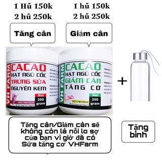 [Tăng bình + muỗng] Bột sữa whey Ngũ cốc Tăng Cân Giảm Cân (Tăng Cơ) VHFARM.