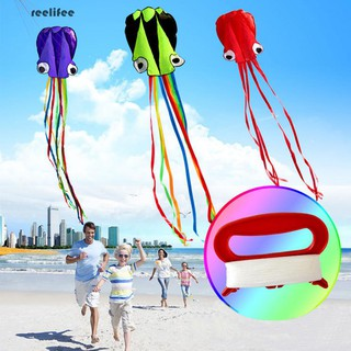 3D 4M Single Line Stunt Octopus Power Sport Flying Kite Kids Outdoor Activity