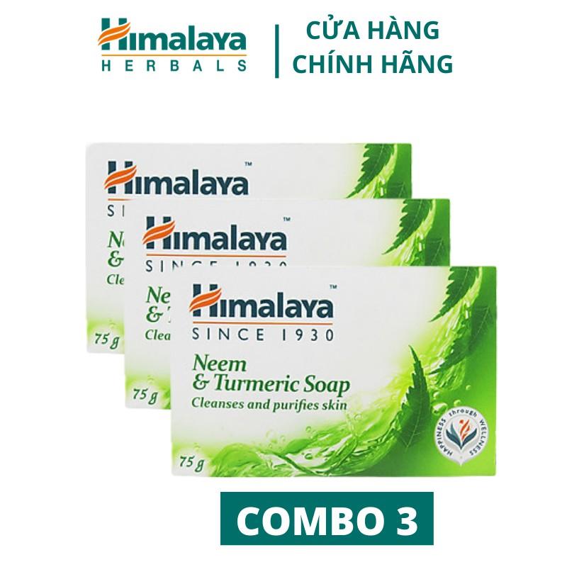 Combo 3 xà phòng làm sạch mụn lưng Himalaya Neem&Tumeric Soap 75g/sản phẩm