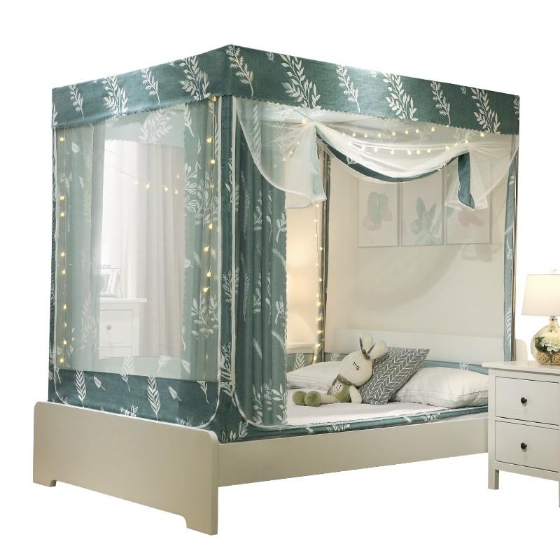 ประเภทซิปล้อมรอบอย่างเต็มที่แรเงาจิตวิเคราะห์มุ้งกันยุงเตียงม่านครัวเรือน 1.8m เตียงสองชั้น 1.5 เมตรเข้ารหัสหนา