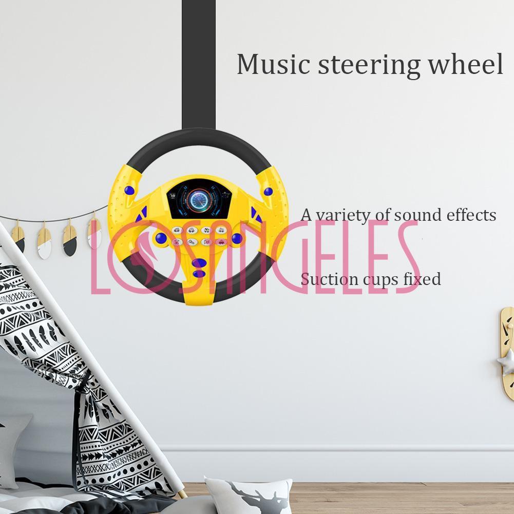 Đồ chơi trên vô lăng xe đẩy có nhạc cho bé