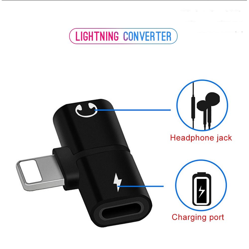 Đầu chuyển đổi chia âm thanh cổng lightning 2 trong 1 tiện dụng cho Iphone