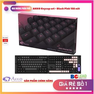 Bộ keycaps bàn phím cơ AKKO Keycap set Black Pink (PBT Double-Shot ASA profile 158 nút) - Mai Hoàng phân phối thumbnail