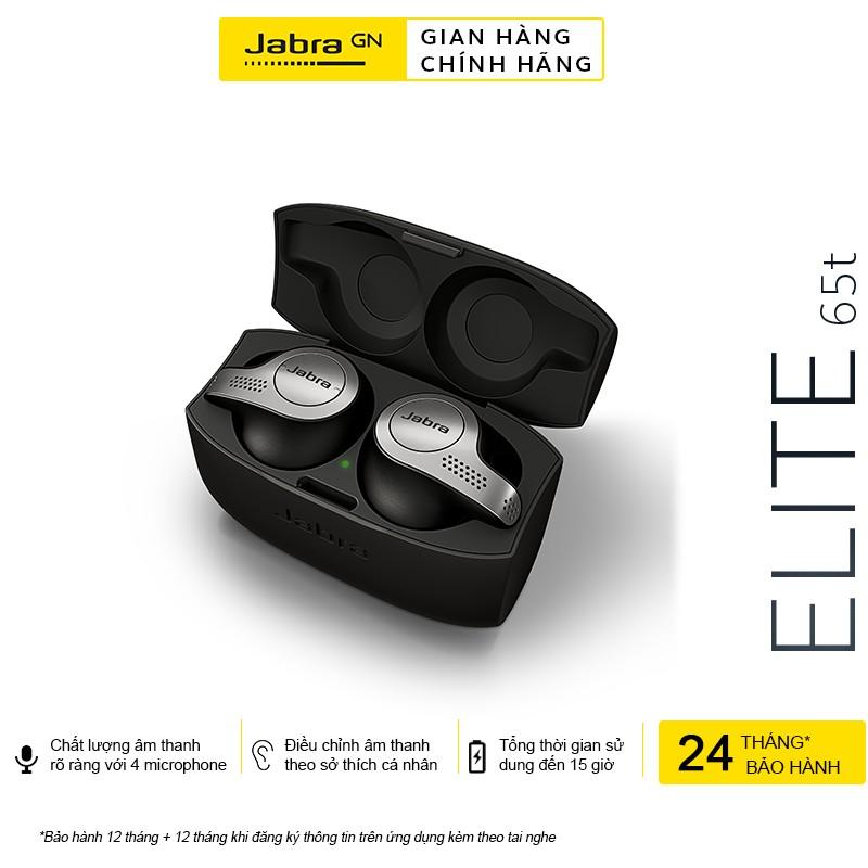 [Mã ELMALL7 giảm 7% đơn 499K] Tai Nghe Bluetooth True Wireless JABRA Elite 65T Thương hiệu Đan Mạch - Hàng Chính Hãng