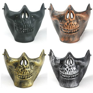 Scary Mask Skull Skeleton Half Face Protective Mask for Halloween CS Games thumbnail
