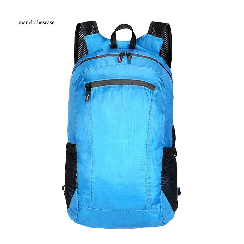 MCC_Unisex Waterproof Portable Folding Outdoor Sports Backpack Climbing Travel Bag