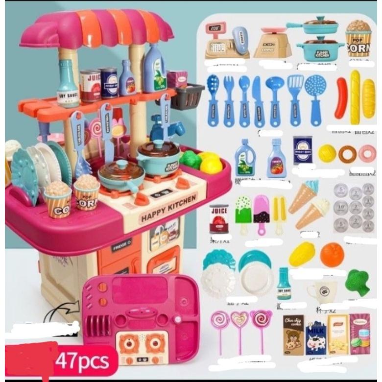 Bộ đồ chơi nấu ăn, bán hàng 2 in1( 51cm)