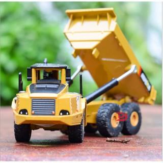 Mô hình xe tải xe tải chở đất đồ chơi trẻ HUINA tỉ lệ 1:50