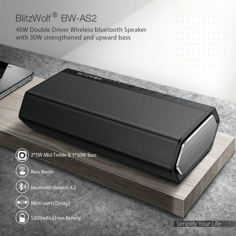 Loa Bluetooth Blitzwolf BW-AS2 40W[Chính hãng] siêu bass
