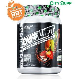 Outlift Pre-workout Mạnh Nhất, Tỉnh táo và Năng lượng trước tập (20SV) – Hàng chính hãng BBT