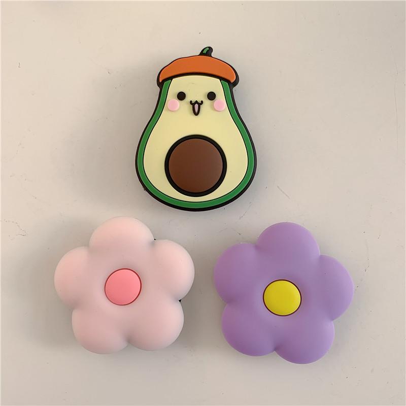 Giá Đỡ Điện Thoại Hình Hoa / Trái Bơ / Móng Mèo / Móng Mèo / Móng Vuốt Pikachu / Quả Cherry Kiểu Nhật Bản Dễ Thương