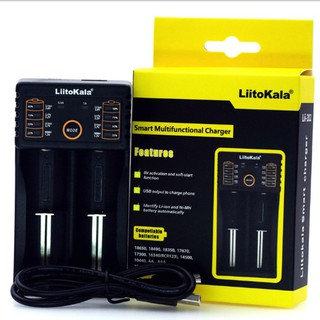 Sạc pin đa năng Liitokala lii-202 hai khe pin cho pin 18650, AA, AAA, 26650... thumbnail