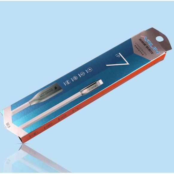 Cáp sạc dánh cho Iphone Arun 1m Iphone 7 đầu sắt (Trắng)