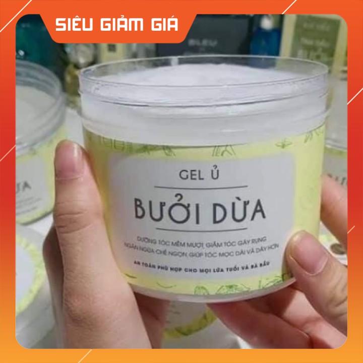 Gel Ủ Tóc Bưởi Dừa 500ml , Mềm Mượt Ngăn Dụng Và Kích Mọc Tóc [CHÍNH - HÃNG]