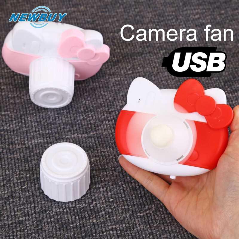 Quạt máy ảnh hình mèo có cổng sạc USB