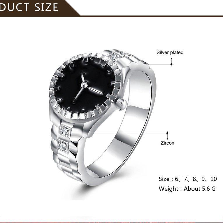 Nhẫn thiết kế thời trang hình đồng hồ