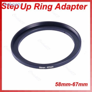 KOK 1 PC Metal 58mm-67mm 58-67 mm 58 to 67 Step Up Filter Ring Adapter Black