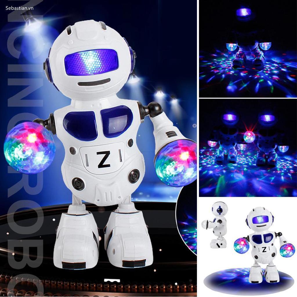 Se Phim hoạt hình sáng tạo Cool Glowing Singing Dancing Robot Toy