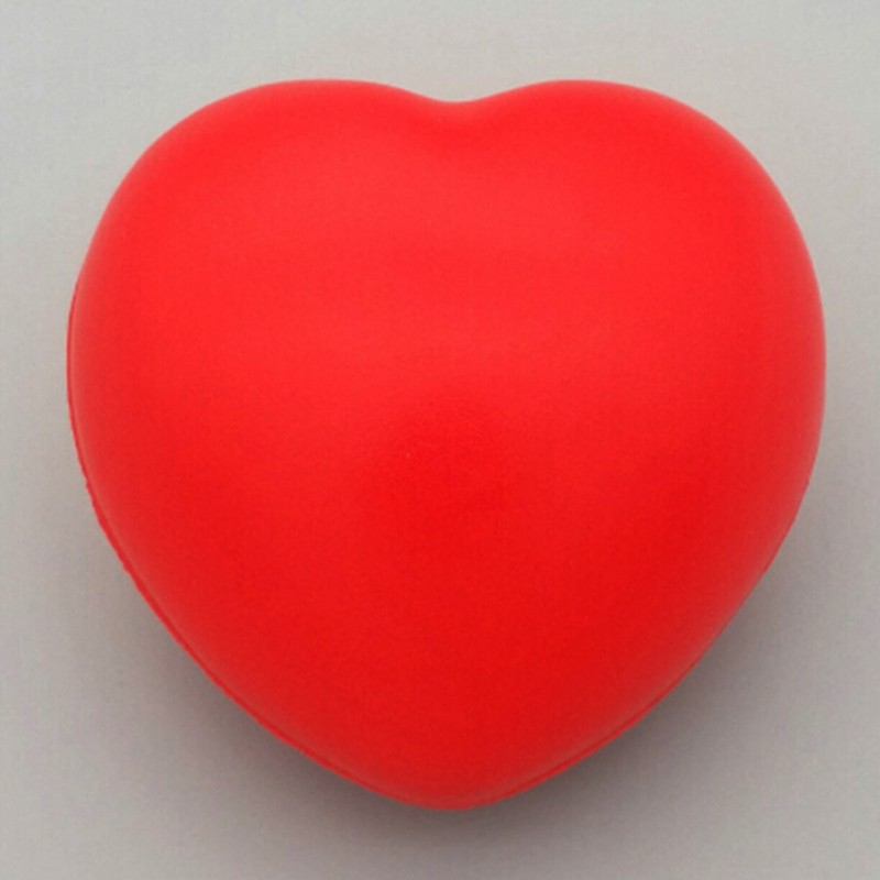LOVEU* Heart Shaped Stress Relief Squeeze Soft Foam Ball Hand Wrist Exercise Baby Ball