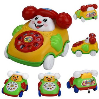 Educational Toys Cartoon Smile Phone Car Developmental Kids Toy Gift