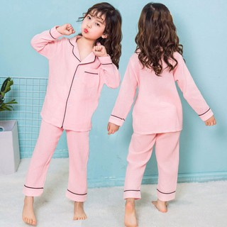 Bộ Đồ Ngủ Cho Bé, Bộ Pijama Chất Đũi Nhăn Dài Tay Cho Bé, Bộ Đồ Ngủ Nhà Cực Xinh Cho Bé Trai Và Bé Gái