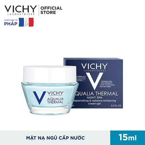 Mặt nạ ngủ dưỡng ẩm giúp làm sáng da Vichy Aqualia Thermal Night Spa Replenishing Radiance Enhancing Sleeping Mask 15ml