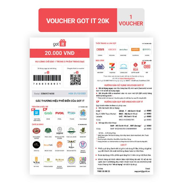 [HC GIFT] Voucher Got it 20K