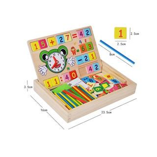 Đồ chơi trẻ em – Hộp bảng gỗ học toán đa năng