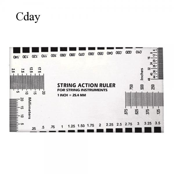 Cday Electric Guitar Bass String Action Gauge Luthier Accessory Measurement Ruler
