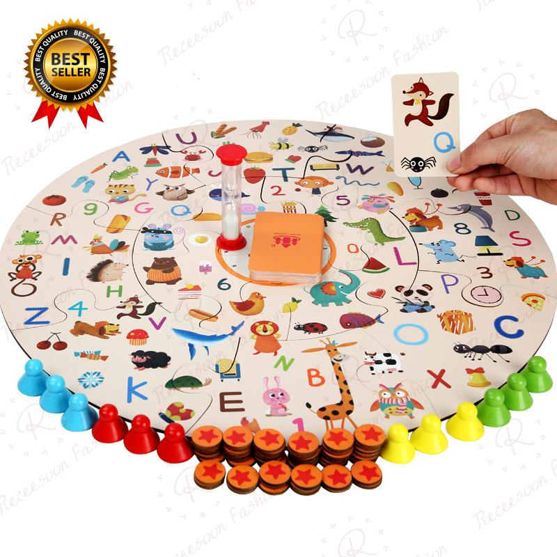 Educational Board Game Kids Toddler Memory Matching Improve Focus Game Wooden Puzzles Gift
