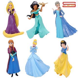 6pcs/set Princess Doll Model Cake Decoration Girl Toy Gift for Children Kids