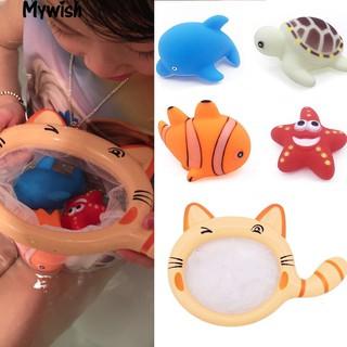 Floating Animals Bathtime Bathing Toys Children Fishing Net Catch Baby Toy