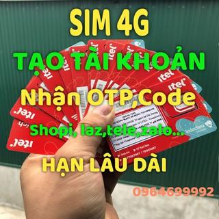 Sim 4G Itelecom Nghe Gọi Vào Mạng, Tạo Tài Khoản Zalo, Shopee, Laz, Tele, Gmail…Hạn Sử Dụng Lâu Dài