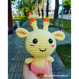 Móc Khóa Hươu Cao Cổ Kute Len – Thú Len Handmade