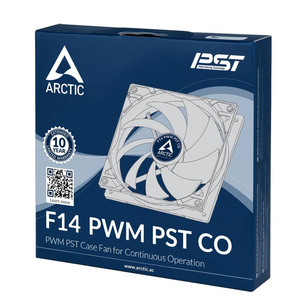 Quạt Fan case 14cm Arctic F14 PWM PST CO - Ổ 2-Ball Bearing bền bỉ, Sức gió lớn
